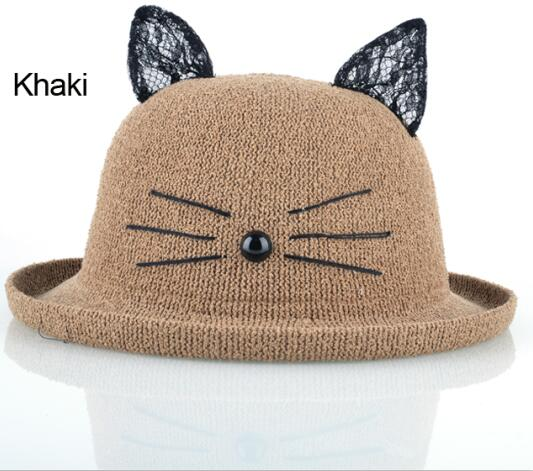 Cat Ears Awesome Summer Hat Cat Ears Awesome Summer Hat Sun Hats K Store The Purr House- The Purr House