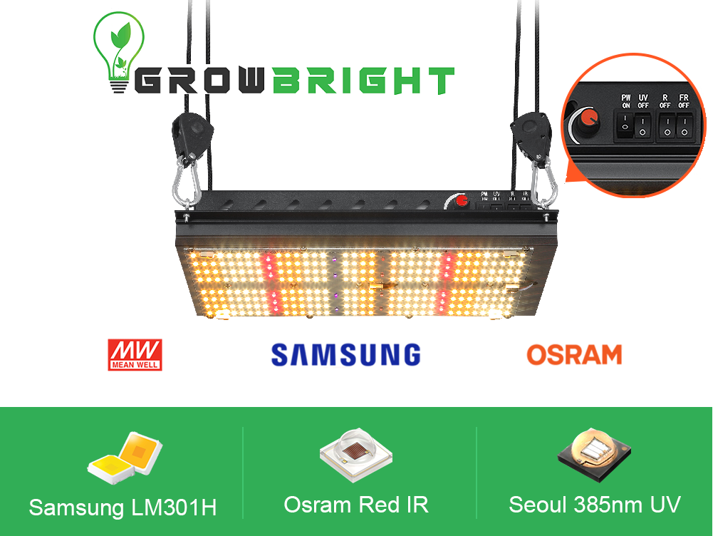 Samsung LM301H With Deep Red and UV- 120w LED QUANTUM BOARD.-Growbright