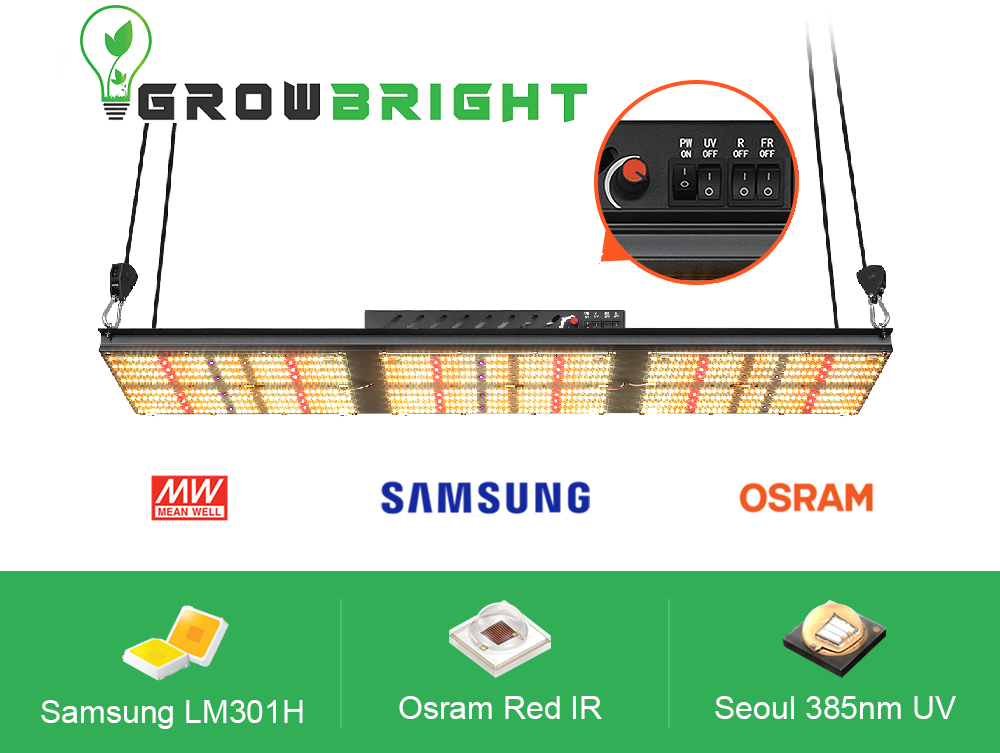 Samsung LM301H With Deep Red and UV- 320w LED QUANTUM BOARD.-Growbright