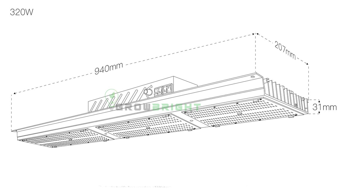 Water Proof - Samsung LM301B 320W LED QUANTUM BOARD.-Growbright