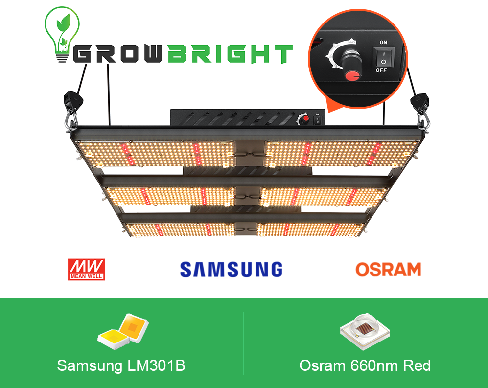 Samsung LM301B + 660nm Red 720W LED QUANTUM BOARD.-Growbright