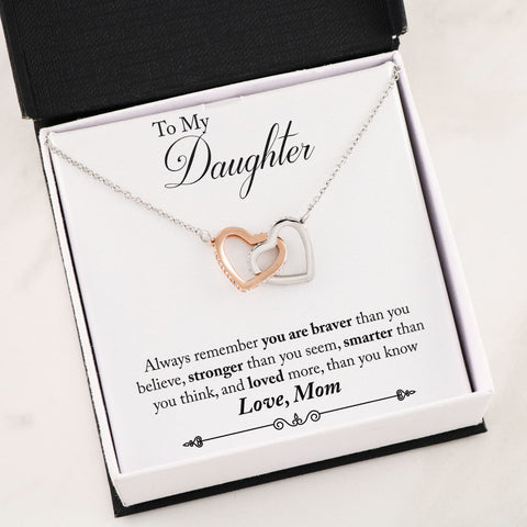 Daughter Two Hearts Necklace