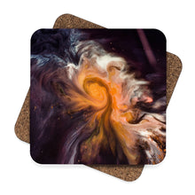 Abstract Square Hardboard Coaster Set - 4pcs