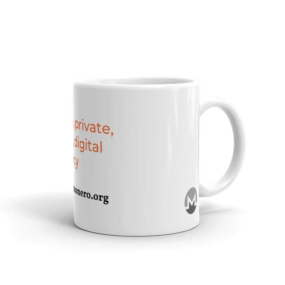 Monero Secure, Private, Sound, Digital Currency Mug