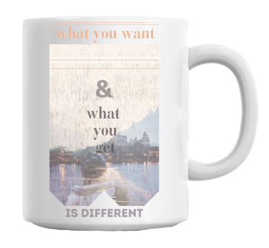 What You Want And What You Get Mug