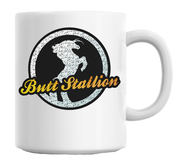 Crystal Horse Butt Stallion Mug