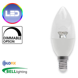 BELL Lighting 4W LED Candle Clear 250 Lumens (Small Edison Screw) Replaces 40W
