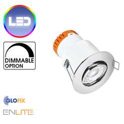 Enlite EN-DE82 LED 8W Adjustable Dimmable Downlight 640 lumens - Glo Fix