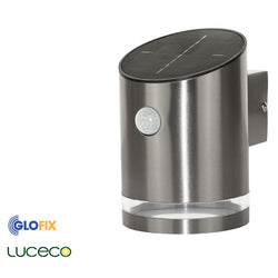 Luceco Solar 100lm Stainless Steel 4000K Wall Light With PIR