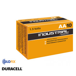 Duracell Industrial AA Alkaline Batteries (10 Pack) - Glo Fix