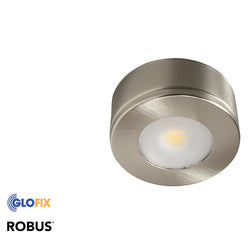 Cabinet Lighting | Robus Commodore 2.5W LED 240V  IP20 available in Brushed Chrome And White