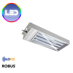 Robus Casey 120W LED Emergency Low Bay IP20 White 5500K c/w 1m Of Flex And Swift Connector - Glo Fix