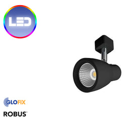 Robus Troy 10W LED Track Spot IP20 Black 3000K And 4000K - Glo Fix