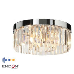 Bathroom Ceiling Light - Endon Lighting Crystal 18W Flush IP44