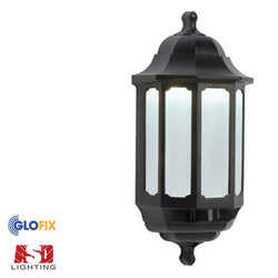 Garden Lights - ASD Lighting Half Coach Lanterns, Available In Black Or White