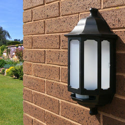Garden Lights- ASD Lighting Half Coach Lanterns, Available In Black Or White