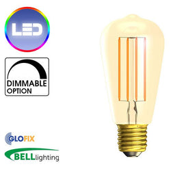 Edison Screw Cap (E27) 27mm - BELL Lighting 4W LED Vintage Squirrel Cage 300 Lumens (Edison Screw Cap)