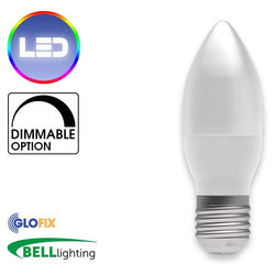 EdisonScrewCap - BELL Lighting 4W LED Candle Opal 250 Lumens (Edison Screw Cap) Replaces 40W