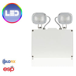 EmergencyLighting - Duceri LED 9W Non Maintained Emergency Twin Spot