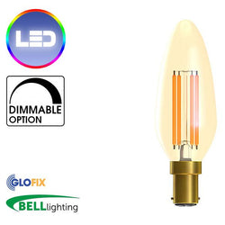 Small Bayonet Cap (B15) 15mm - BELL Lighting 4W LED Vintage Candle 300 Lumens (Small Bayonet Cap)