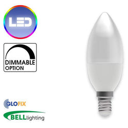 Small Edison Screw Cap (E14) 14mm - BELL Lighting 4W LED Candle Opal 250 Lumens (Small Edison Screw) Replaces 40W