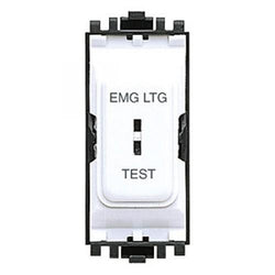 "Switches&Dimmers - MK Grid Keyswitch ""EMG LTG"" In White PVC"