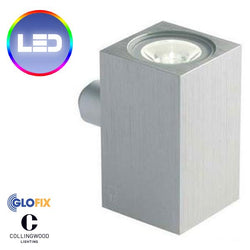 Bathroom Lighting - Collingwood MC020 2W LED Up And Down IP65 Rated Mini Cube Wall Light