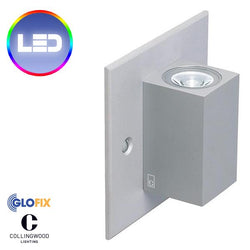 Bathroom Spotlights - Collingwood MC025 2.3W LED Up And Down IP20 Rated Mini Cube Wall Light, Straight To Mains