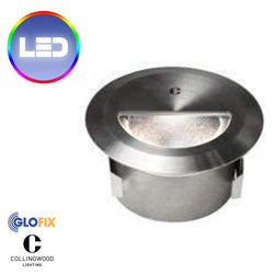 Stairwell lighting - Collingwood WL340 2.6W LED IP67 Round Straight To Mains Step Light (Brush Finish)