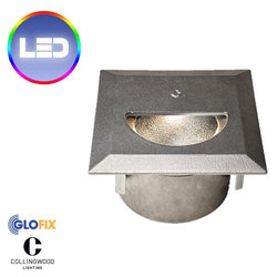Garden Lights - Collingwood WL341 2.6W LED IP67 Square Straight To Mains Step Light (Cast Finish)