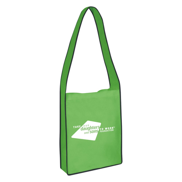 Non-Woven Messenger Tote Bag With Velcro Closure
