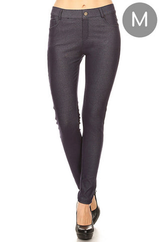 Classic Solid Skinny Jeggings in NAVY (MEDIUM ONLY)