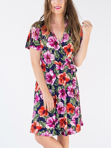 Nightingale Dress - Hawaiian Floral