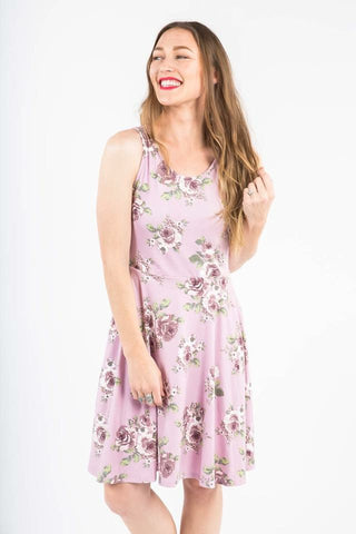 Fisher Dress - Lavendar Floral