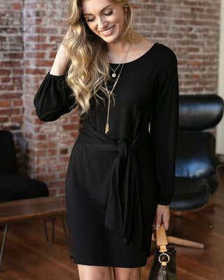 Knit Tie Waist Dress