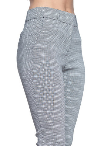 Dressy Capri Pants - Black and White Square