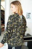 Long Sleeve Camouflage Knit Sweater