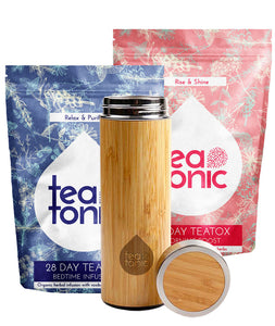 Teatonic - 28 DAY Teatox Set - Skinny Detox Tea & Thermo-Go Bottle
