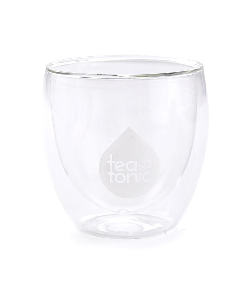 Teatonic - Double-Wall Glass Tea Mug Empty
