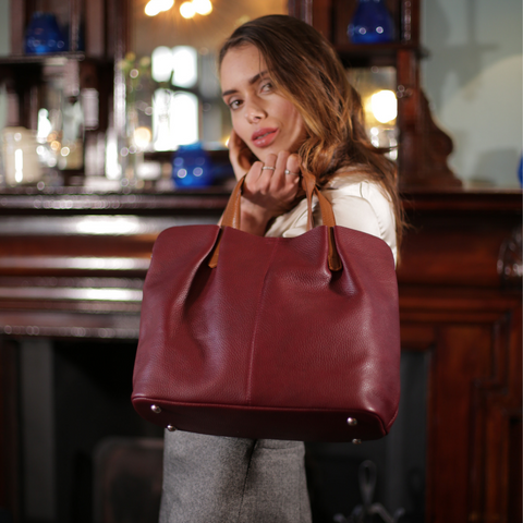 Roma tote with model - Ozzell Lonodn