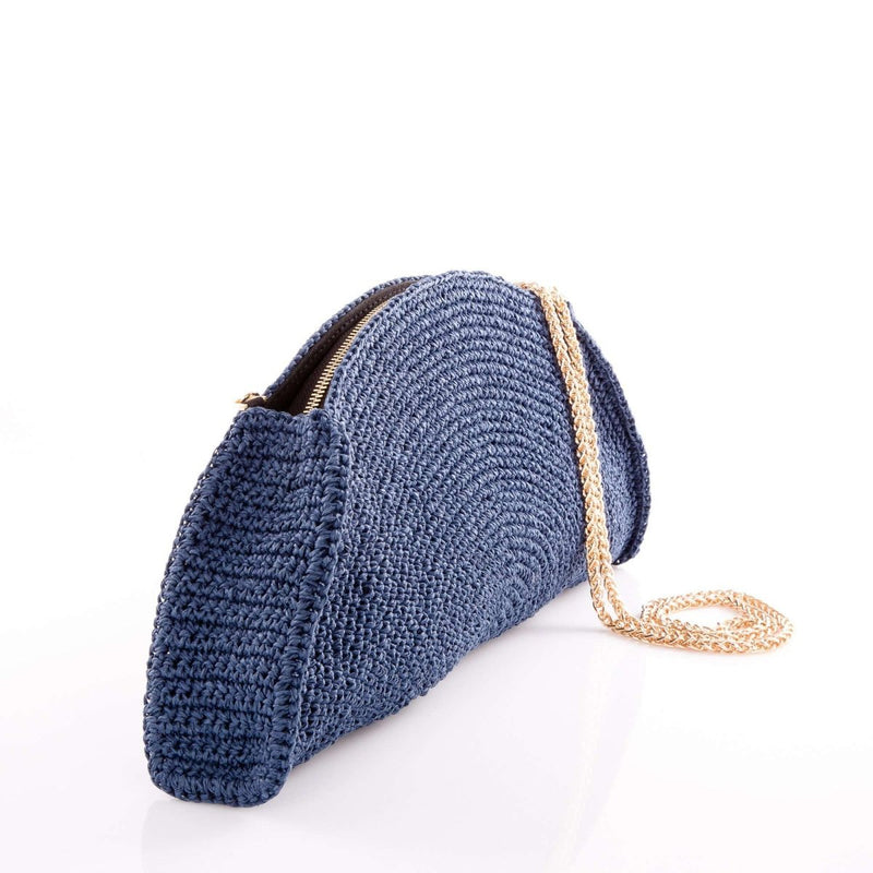 Half-moon Handmade Raffia Clutch - Clutch - Ozzell London
