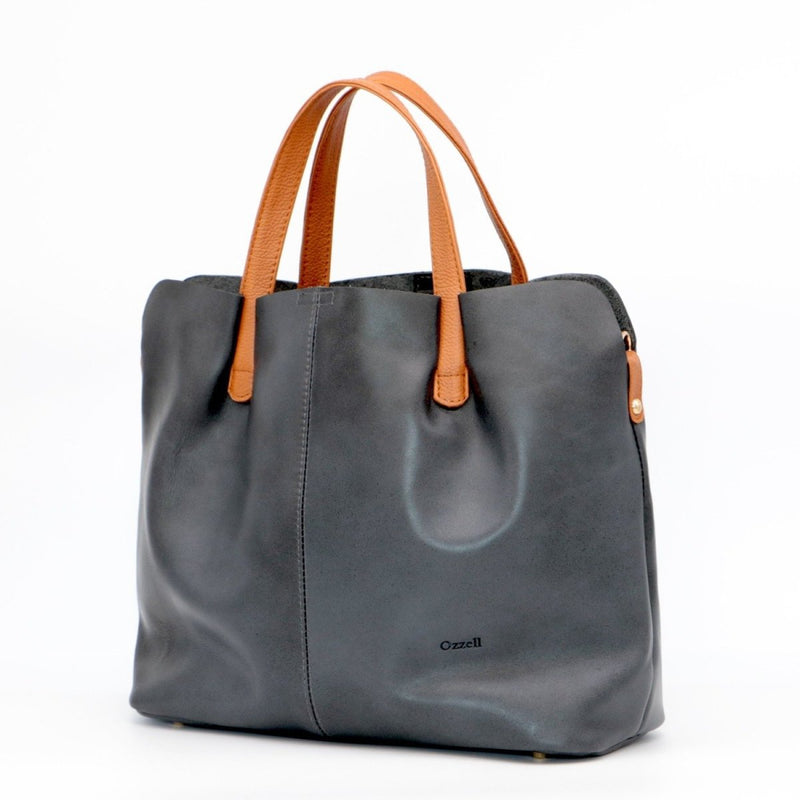 Roma Pebbled Premium Leather Tote Bag - Handbag - Ozzell London