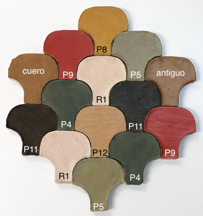 Coloured Terracotta: Handmade Hexagons