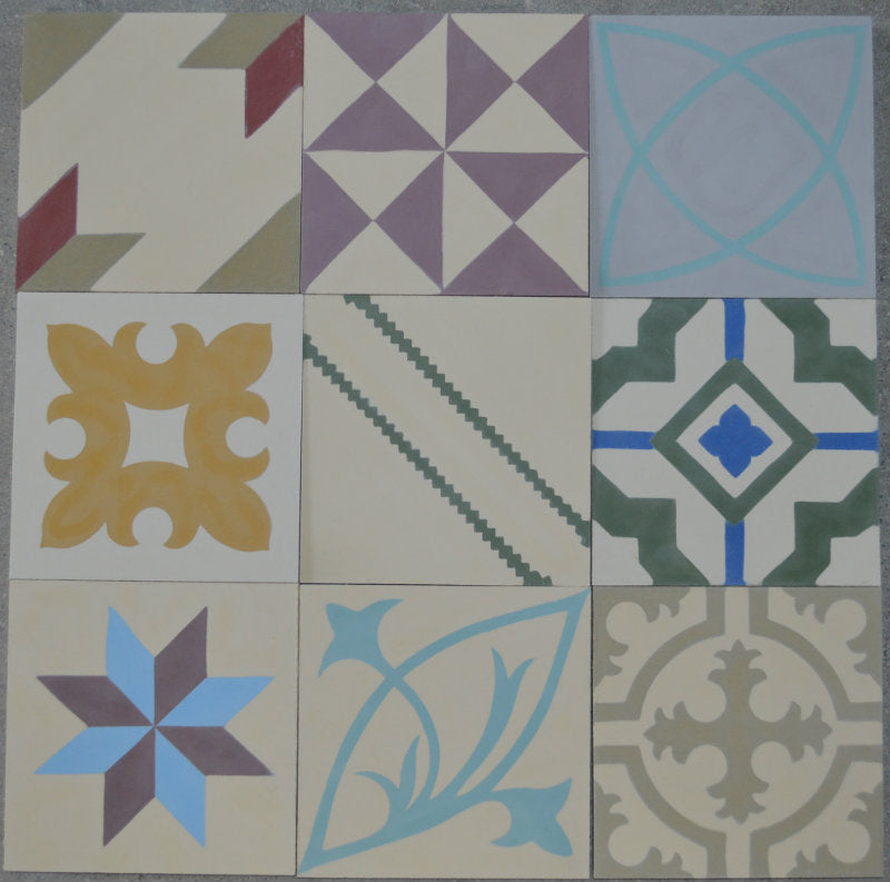 Encaustic Tiles: Patchwork Selection