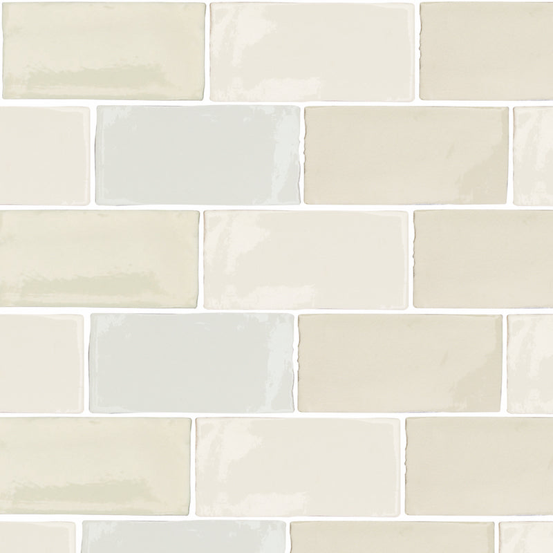 Crackle-Glazed Wall Tiles