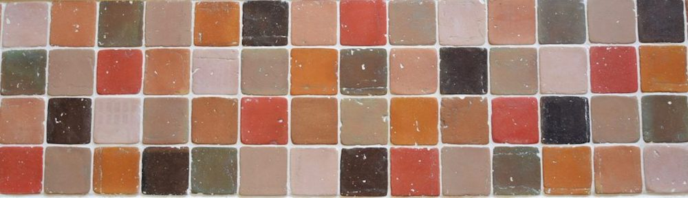 Coloured Terracotta: Handmade Squares