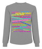 Women's Raglan Sweatshirt Screw The Taboo Neon Sign Style - It's Your Period