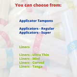 It's Your Period Subscription Box - 40 x Applicators (and liners) - It's Your Period