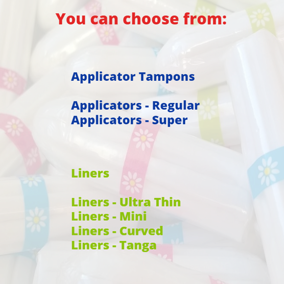 It's Your Period Subscription Box - 34 x Applicators (and liners) - It's Your Period
