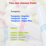 It's Your Period Subscription Box - 18 x Tampons (and liners) - It's Your Period